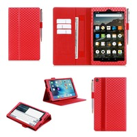 2015 New Arrival With Pen Holder Wallet Tablet Case For Kindle Fire HD 8