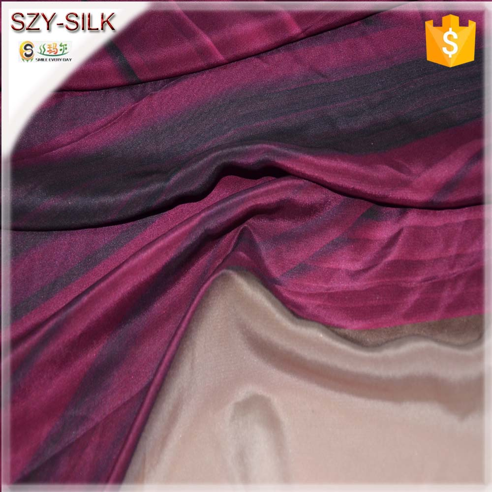Evening Dresses Fabric print 129gsm heavy silk crepe fabric in 100% silk