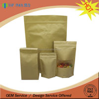 custom printing food grade material bag pouch paper bag manufacturer / kraft paper bags with valve