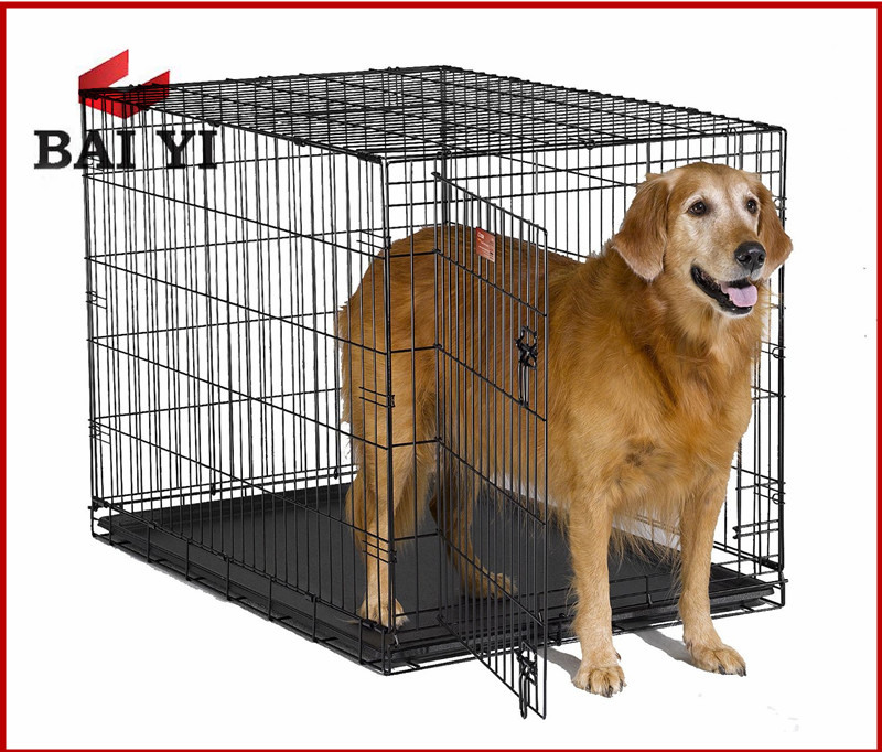 High quality steel wire metal pet cage dog cage, metal pet carrier