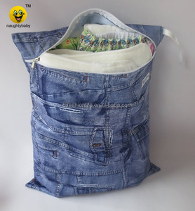 Naughtybaby waterproof cloth diaper wet bag nappy pail liner baby travel bag mommy bag