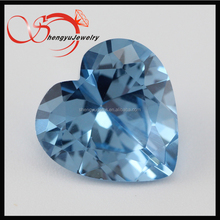 Blue 108# heart12*12mm spinel shape machine cut synthetic spinel