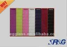 customized magnetic glass memo board