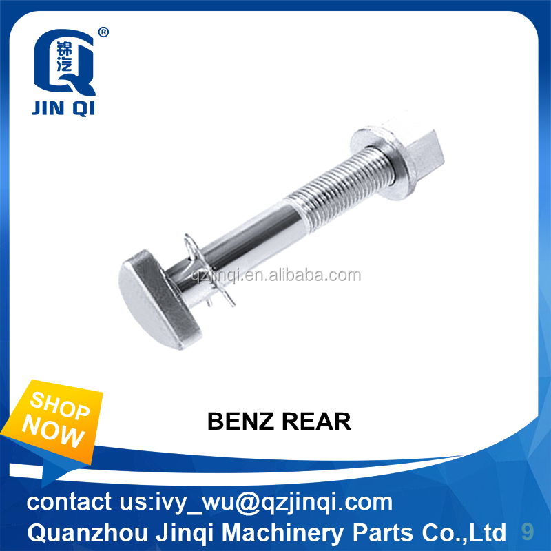 Silvery zinc-plated high tension D bolts for Benz truck 125mm