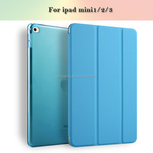 ultra slim pu leather case for ipad case for ipad mini case for ipad mini123 auto sleep wake