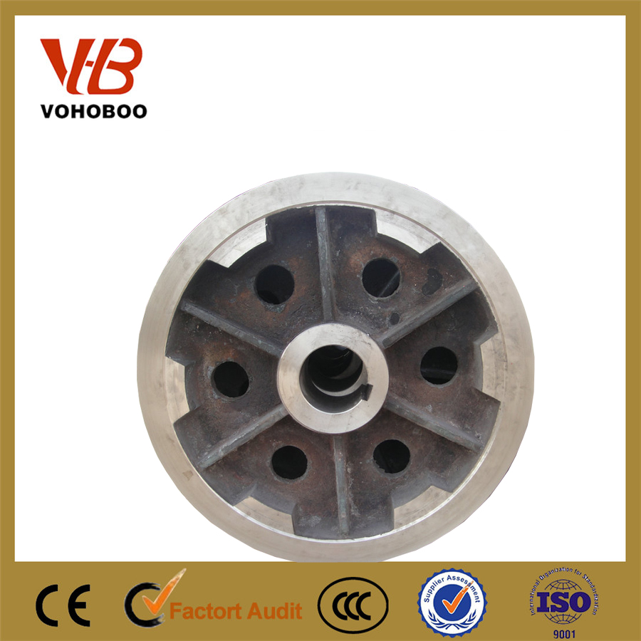 Drawing customized heavy duty steel casting forged crane wheel