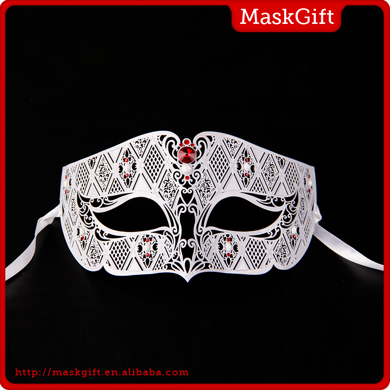 Wholesale half face party Masquerade metal mask for female MD008-RWT