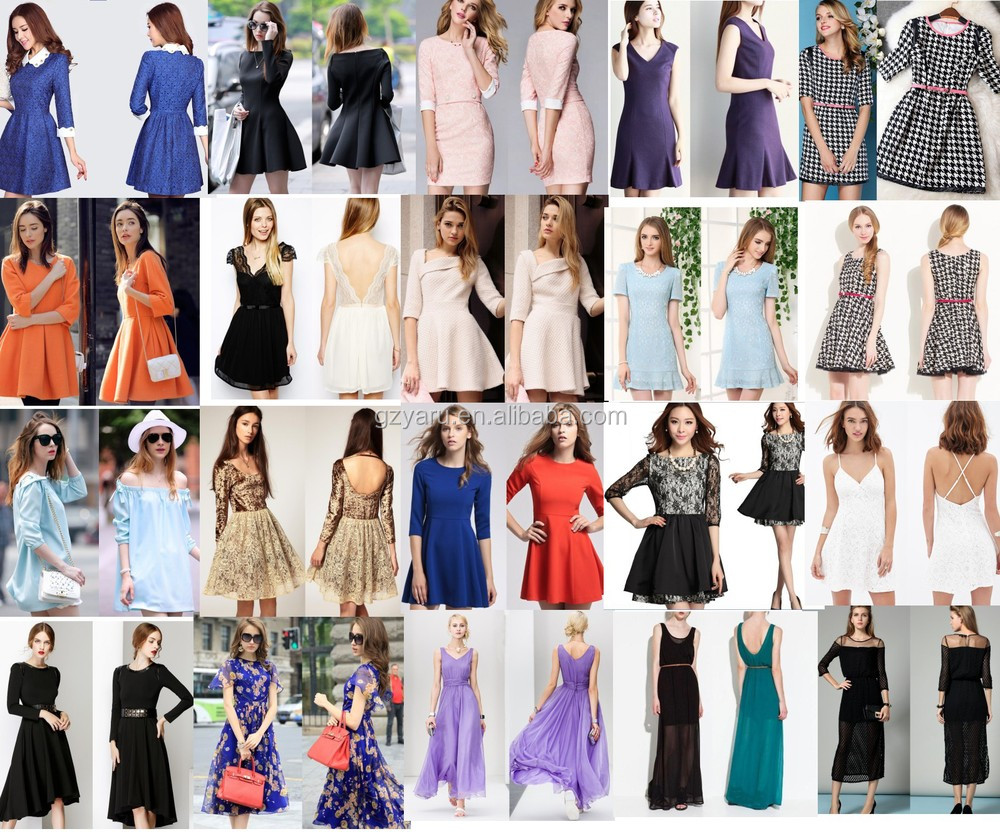 2015 Spring models girls dress new designs thailand lace long sleeved dress