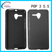 Tpu soft case cover for Alcatel pop3 5.5,pudding tpu case for Alcatel pop 3 5.5