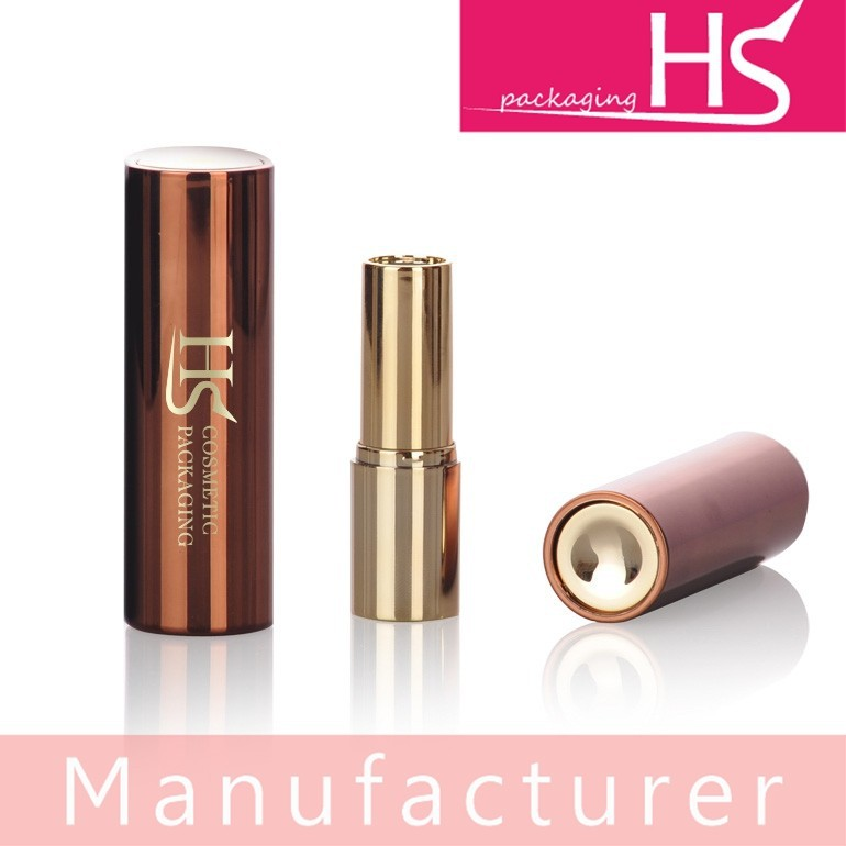 Cylinder plastic press out lipstick tube