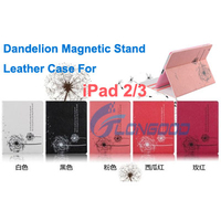 Folding Tablet Case Dandelion Leather Case With Stand For iPad