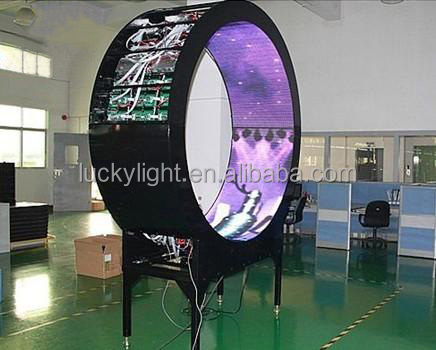 2015 new xxx images p3 indoor led screen/ full sexy hd video flexible led display/ 360 degree led panel