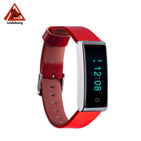Leather men hand screen touch led smart watch