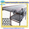 Metal flat mesh conveyor belt