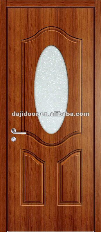Melamine Apartment Entry Doors Glass Inserts DJ-P062