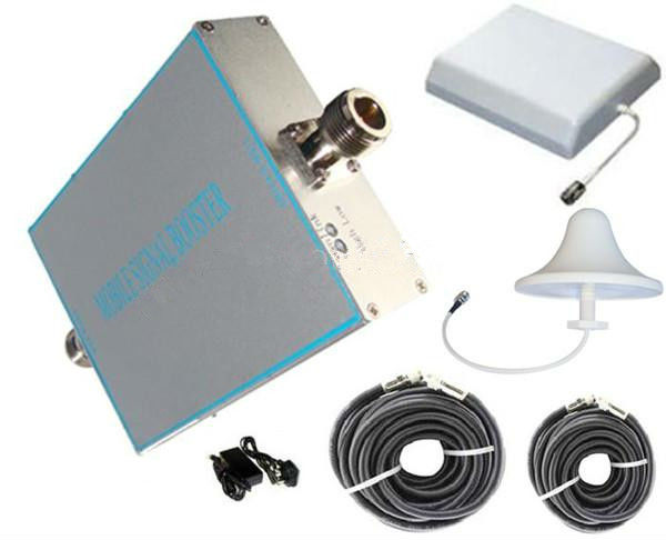 Wholesale - 500-800sqm CDMA 800 GSM 850 MHz umts mobile Booster/Repeater/Amplifier+Ceiling & Panel antenna+two cable10/5m