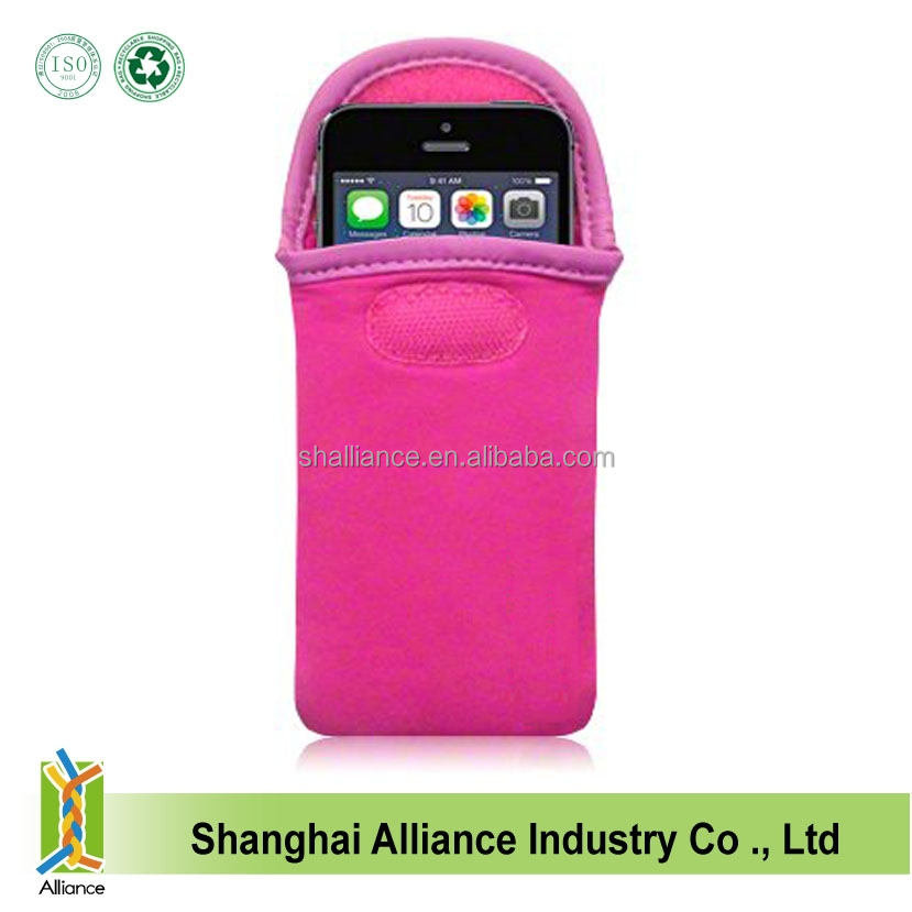 Hot Selling Neoprene Mobile Phone Case With Velcro Closure