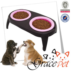 Raised Dog Bowls / Collapsible & FDA Approved Elevated Dog Feeder