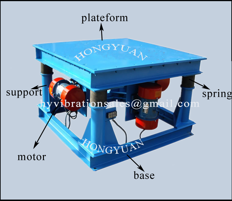 Price For Vibrating Table For Concrete Mould With Double