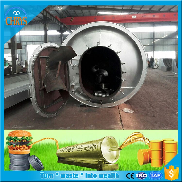Green Enviromental Project Fully Continuous Used plastic rubber tyres pyrolysis oil plant
