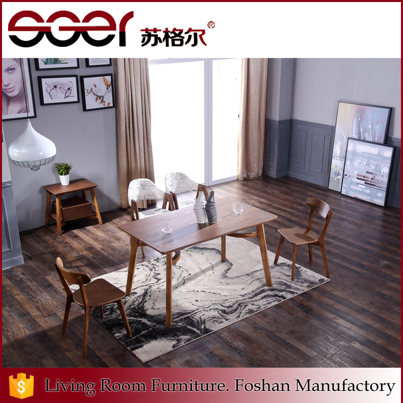 High quality cheap wood design living room luxury dinner table