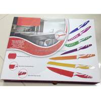KN-9741 7pcs colorful non-stick coating knife set