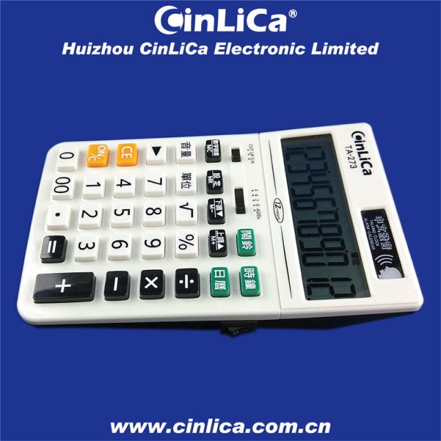 TA-273 12 digit desktop talking calculator, game calculator