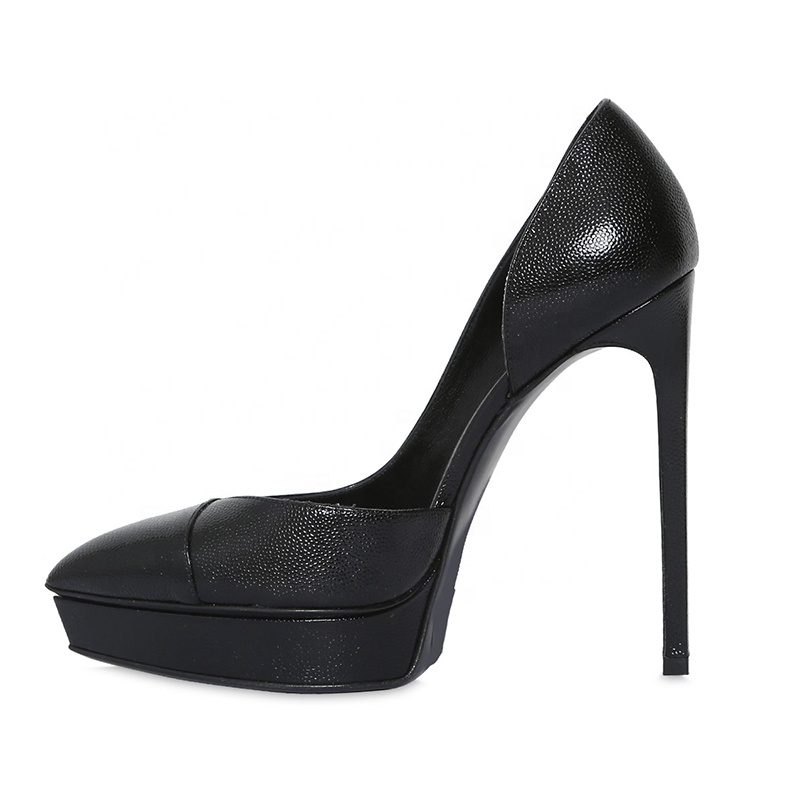 LATEST DESIGN 2019 CHINA WHOLESALE VERY FASHION black color 15cm platform pencil high heel shoes