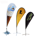 Custom advertising promotion cheap price outdoor beach tear drop banner large teardrop flag