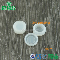 clear disposable 3ml silicone jar custom silicone jar wax/oil containers