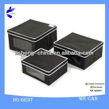 folding storage box with lid and PVC window-#M