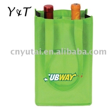 Nonwoven fabric 2 bottle wine bag with pocket