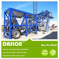 YHZS25 china professinal manufacturer movable mobile wet mix concrete batching plant