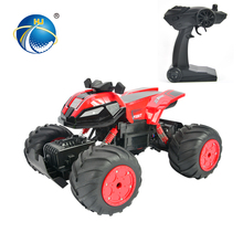 four wheel 2.4G high speed 1:12 remote control battery charger toy motorcycle with shock absorption