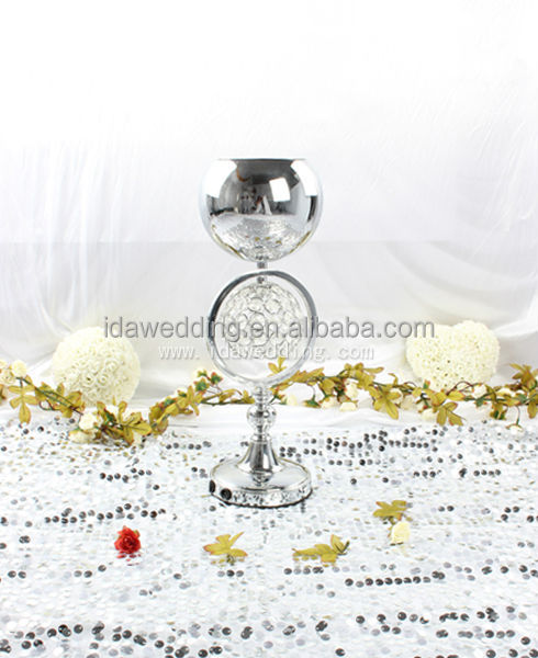 Decorative candle holder crystal lotus flower for wedding centerpieces for party decoration