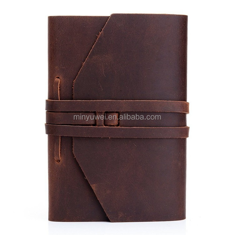 handmade high quality Amazon hot sale refillable vintage crazy horse leather notebook