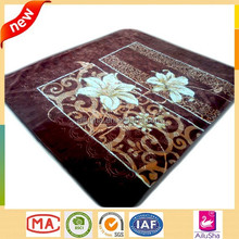 flower jacquard throw handmade super soft heavy wool 2 ply mink made in korea outdoor heated blanket