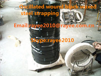 Oscillated wound black waxed steel strapping