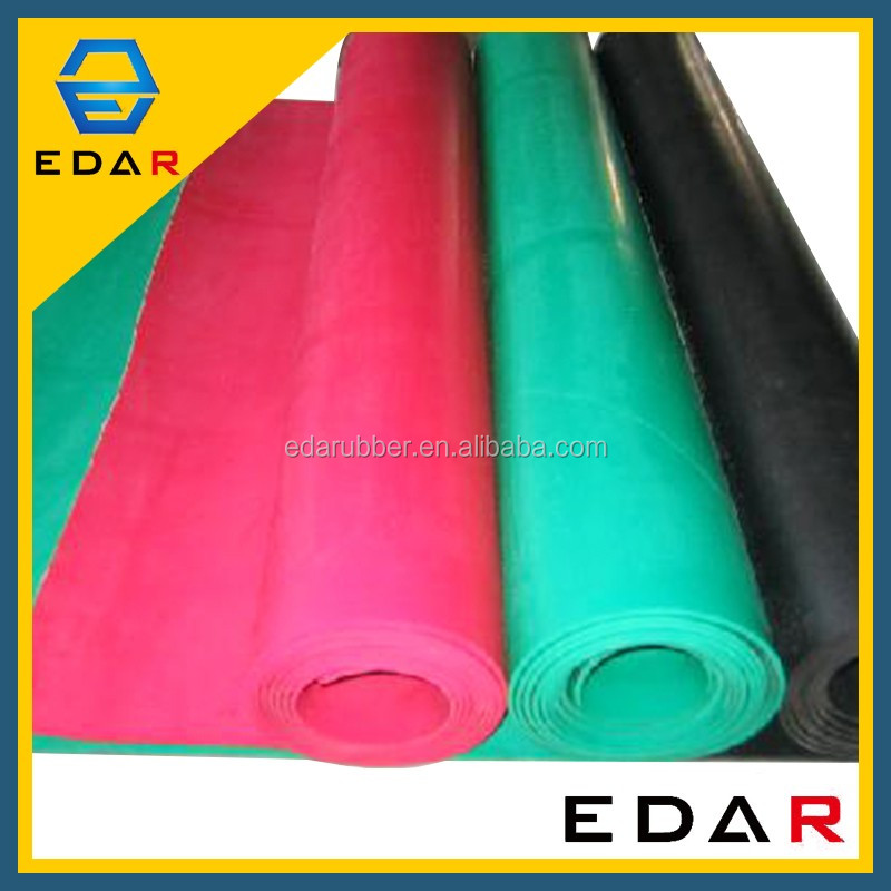 Rubber Sheet Manufacture EDAR Black 15Mm SBR rubber Widely Used Industrial Thickness Viton Rubber Sheet