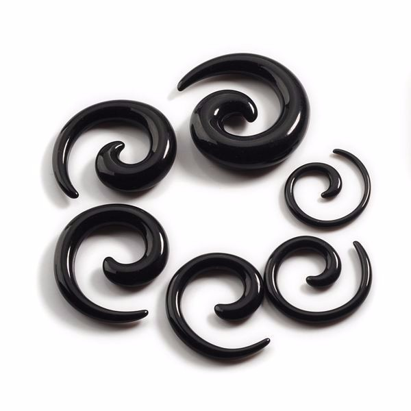 Different colors fashion ear spiral tunnel acrylic ear plugs gauges