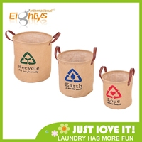 collapsible storage box and jute cloth storage bucket