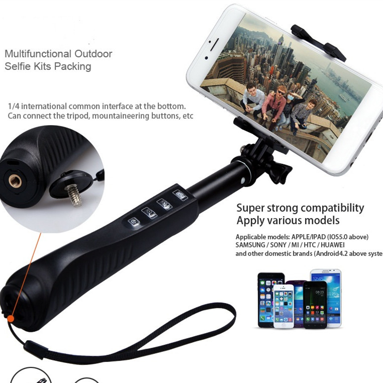 Wireless Monopod Legoo Bluetooth Selfie Sticks for iPhone or Android and digital camera selfie