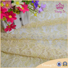New corded lace with silver french lace fabric wholesale