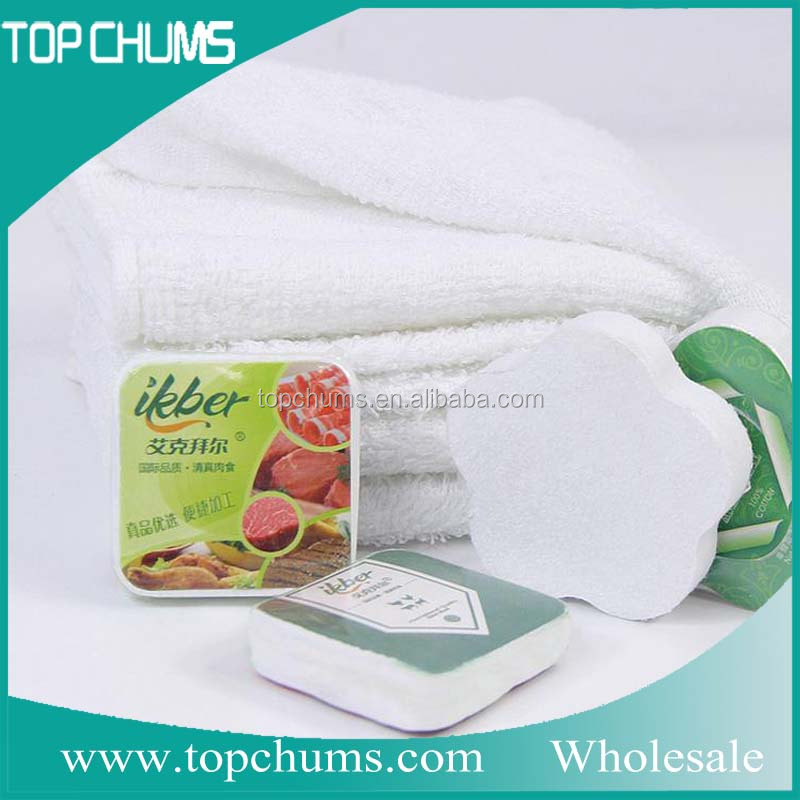 Custom used for supermarket advertisement cotton compressed towel