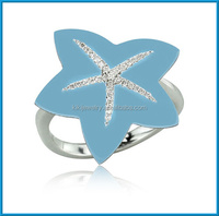 factory price reconstructed turquoise blue diamond ring