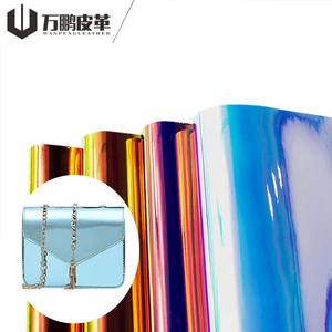 Shiny Leather For Bag Pu Leather For Bag & Luggage Making Material