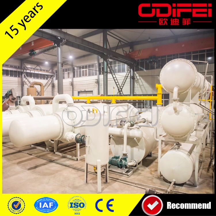 45%-60% waste tyre and plastic pyrolysis plant