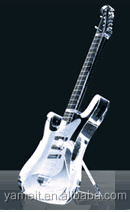 transparent electric guitar body