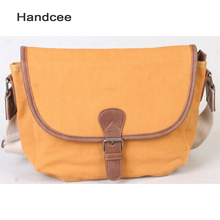 Wholesale factory price cheap canvas leather bag