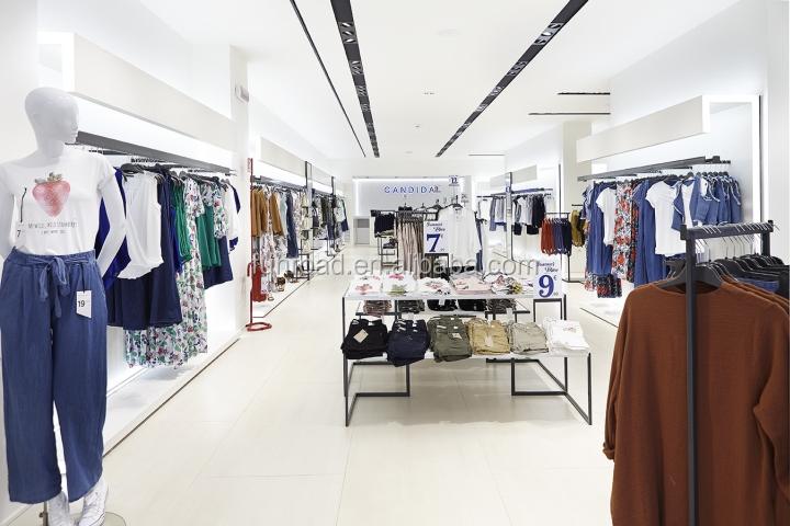 Design For Clothes Shop | Fashionable Wooden And Metal Ladies Clothes Shop Design